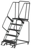Ballymore M-2000 Series Deep Top Step Rolling Safety Ladder With Serrated Treads, Model 053221G