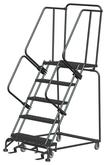 Ballymore M-2000 Series Deep Top Step Rolling Safety Ladder With Perforated Treads, Model 053221P