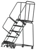 Ballymore M-2000 Series Deep Top Step Rolling Safety Ladder With Abrasive Mat Treads, Model 053221R
