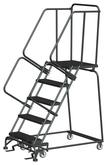 Ballymore M-2000 Series Deep Top Step Rolling Safety Ladder With Expanded Metal Treads, Model 053221X