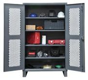 Durham Extra Heavy Duty Lockable Ventilated Shelf Cabinets Model No. HDCV243678-4S95