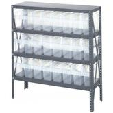 Quantum Clear-View Store-Max Bin Shelving, Model 1239-801CL