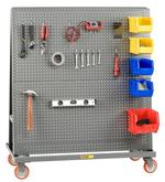 Little Giant Mobile Pegboard A Frame Lean Tool Cart Model No. AFPB-2436-5PY