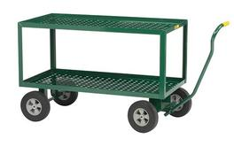 Little Giant 2-Shelf Wagon Truck with Perforated Deck 2LDWP-2448-10-G