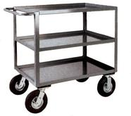 Stromberg 3 Shelf Steel Service Carts with Pneumatic Casters Model No. CA2448-38PN
