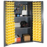 Durham 36 Inch Wide 5-S Storage Cabinet with Steel Pegboard Model No. 3501-DLP-PB-96-2S-95