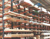High Cantilever Lumber Storage Structural Cantilever Rack Material Flow