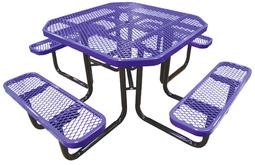 46 Octagonal Expanded Metal Table