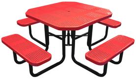 46 Inch Octagonal Perforated Table