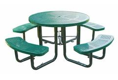 46 Inch Round Perforated Table
