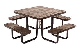 46 Inch Square Perforated Table