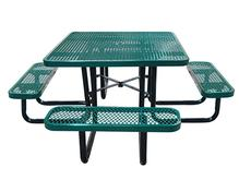 46 Inch Square Expanded Metal Table