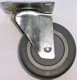 Stromberg CA4 Series Gray Rubber Swivel Casters
