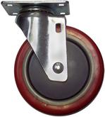 Stromberg CA4 Series Polyurethane Swivel Medium Duty Casters 5 Inch