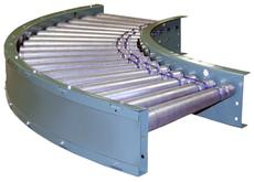 796PRAC Powered Roller Accumulator Curve Photo Eye Controlled