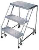 Ballymore Aluminum Ladder With No Hand Rails and Ribbed Treads, Model A3SR