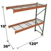 Stromberg Teardrop Storage Rack - Add-on Unit with Deck - 120 in x 36 in x 10 ft