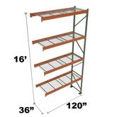 Stromberg Teardrop Storage Rack - Add-on Unit with Deck - 120 in x 36 in x 16 ft