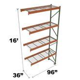 Stromberg Teardrop Storage Rack - Add-on Unit with Deck - 96 in x 36 in x 16 ft