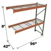 Stromberg Teardrop Storage Rack - Add-on Unit with Deck - 96 in x 42 in x 8 ft