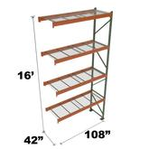 Stromberg Teardrop Storage Rack - Add-on Unit with Deck - 108 in x 42 in x 16 ft