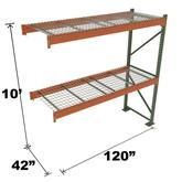 Stromberg Teardrop Storage Rack - Add-on Unit with Deck - 120 in x 42 in x 10 ft
