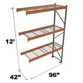 Stromberg Teardrop Storage Rack - Add-on Unit with Deck - 96 in x 42 in x 12 ft