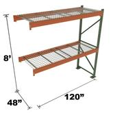 Stromberg Teardrop Storage Rack - Add-on Unit with Deck - 120 in x 48 in x 8 ft