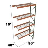 Stromberg Teardrop Storage Rack - Add-on Unit with Deck - 96 in x 48 in x 16 ft
