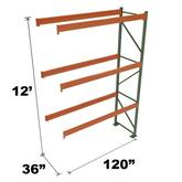 Stromberg Teardrop Storage Rack - Add-on Unit without Deck - 120 in x 36 in x 12 ft