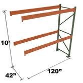 Stromberg Teardrop Storage Rack - Add-on Unit without Deck - 120 in x 42 in x 10 ft