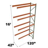 Stromberg Teardrop Storage Rack - Add-on Unit without Deck - 120 in x 42 in x 16 ft