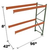 Stromberg Teardrop Storage Rack - Add-on Unit without Deck - 96 in x 42 in x 8 ft