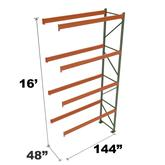 Stromberg Teardrop Storage Rack - Add-on Unit without Deck - 144 in x 48 in x 16 ft