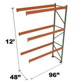 Stromberg Teardrop Storage Rack - Add-on Unit without Deck - 96 in x 48 in x 12 ft