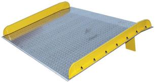 Vestil Aluminum Truck Dockboard with Steel Safety Curbs - 15000 lb. Capacity