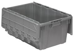 Akro-Mils Attached Lid Containers 39160 Gray