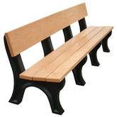 Vestil Park Benches - Recycled Plastic - Landmark Backed