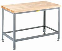 Little Giant Butcher Block Top Table Model No. WT-2448-LL