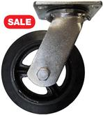 6 Inch Mold-On Rubber Iron Core Swivel Casters