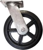 CA6 Mold-On Rubber Swivel Casters