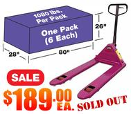CPT2748PS Purple Pallet Jack 6 Pack Sale Sold Out