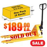 CPT2748Y Pallet Jack 6 Pack Sale Sold Out