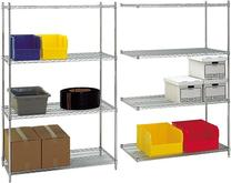 Stromberg Chrome Wire Stationary Shelving Units