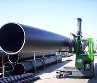 Combilift Moving and Storing Pipe in the Yard