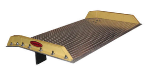 Aluminum Dock Board with Bolt-On Steel Curbs - 15000 lb Capacity