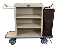 Cruise Line Housekeeping Cart - 3 Shelves and 1 Bag