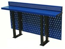 Stand-Alone Stadium Drink Rail with Modesty Panel and Backsplash