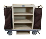 Deluxe Housekeeping Cart - 3 Shelf and 2 Bags