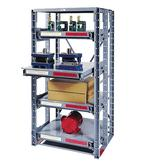 Meco High Density Roll-Out Shelf Racks